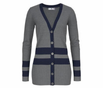 Strickjacke navy / grau