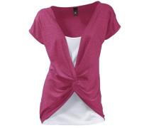 Shirt 2-in-1 pink / weiß