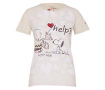 Shirt 'Snoopy' beige / mischfarben