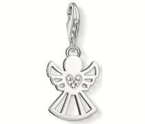 Charm-Einhänger 'Engel Dc0029-725-14' silber / weiß
