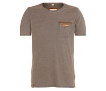 T-Shirt 'Suppenkasper' braunmeliert
