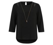 Blusenshirt mit Kette schwarz