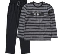 Schlafanzug für Jungen dunkelgrau