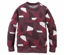 Sweatshirt gemustert für Jungen rot