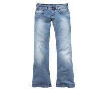 Jeans mit weitem Bein 'Judie' hellblau