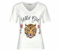 T-Shirt »Wild Girl« goldgelb / himbeer / schwarz / weiß