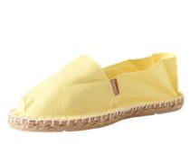 Espadrilles mit gummierter Sohle 'Classic' gelb