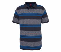 Poloshirt blau / grau / schwarz
