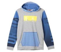 Colorblocking Hoodie blau / grau