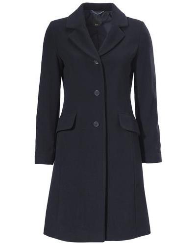 Kurz-Mantel dunkelblau