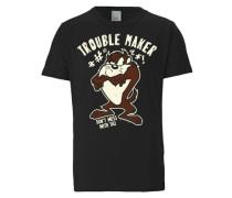 """T-Shirt """"Tasmanischer Teufel"""" braun / hellbraun / schwarz"""