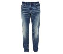 Tubx Straight: Jeans mit Waschung blue denim