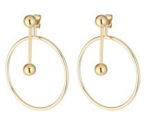 Ohrring mit geometrischen Formen gold