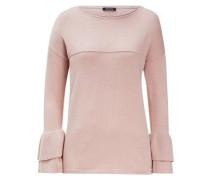 Pullover Volant-Ärmel rosa