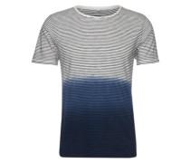 Gestreiftes T-Shirt 'Cisimone' dunkelblau / weiß