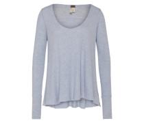 Oversized Shirt 'Malibu' silbergrau