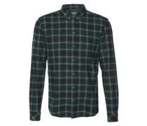 Hemd mit Karo-Muster 'Tahi' dunkelgrün
