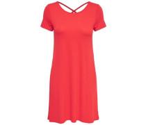Lässiges Kleid mit kurzen Ärmeln rot