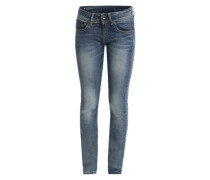 'Midge Saddle Mid Straight' Jeans blau