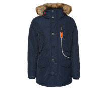Winterparka 'snow coat with hood' navy