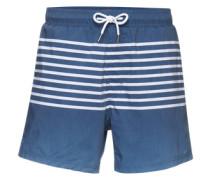 Badeshorts 'stripe Short' navy / weiß