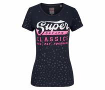 Rundhalsshirt 'classic Star Entry Tee' navy / pink / weiß