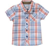 Kinder Hemd für Jungen blau / orange