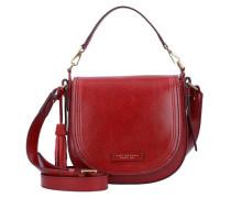 Pearldistrict Handtasche Leder 23 cm rot
