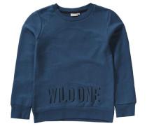 Sweatshirt mit Prägedruck Nitkelix für Jungen blau / marine