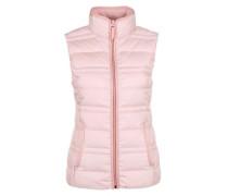 Sportive Daunen-Steppweste rosa