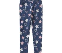 Leggings Sterne für Mädchen blau