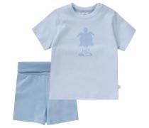 Baby Schlafanzug für Jungen aus Organic Cotton blau / hellblau