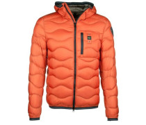 Daunenjacke Wellen-Stepp Kapuze orange