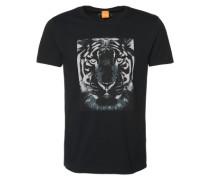 T-Shirt mit Tiger-Print 'Tullian 2' schwarz