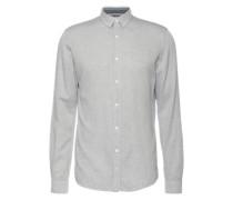 Hemd 'jacquard faux uni shirt' creme