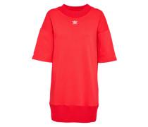 Kleid 'trefoil' rot / weiß