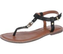 Zehentrenner-Sandalen schwarz