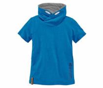 T-Shirt mit Schalkragen royalblau