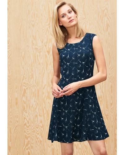 s oliver damen s oliver sommerkleid mit allover print blau reduziert. Black Bedroom Furniture Sets. Home Design Ideas