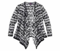 Strickjacke mit eingestricktem Muster schwarz / weiß