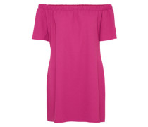 Kleid 'amarta Frill OFF Shoulder Shift' dunkelpink