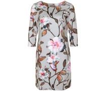 Kleid mit floralem Muster rostbraun / hellgrau / mischfarben / altrosa