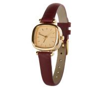 Armbanduhr 'Moneypenny' gold / burgunder