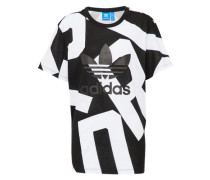 T-Shirt 'tee' schwarz / weiß