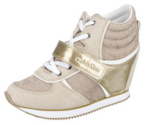 High Sneaker 'Viridiana' camel / gold