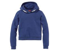 Kapuzensweatshirt in kurzer Form für Mädchen blau