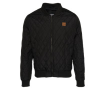 Diamond Quilt Nylon Jacket schwarz