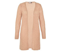 Long Cardigan mit Wolle und Mohair puder