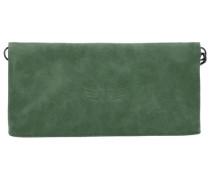 Ronja Wing Vintage Clutch Tasche 29 cm grün