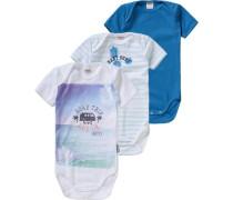 Bodys 3er-Pack für Jungen blau / hellblau / weiß